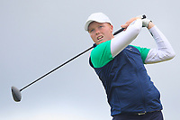 Robin Dawson from Ireland on the 5th tee during Round 3 Singles of the Men's Home Internationals 2018 at Conwy Golf Club, Conwy, Wales on Friday 14th September 2018.<br /> Picture: Thos Caffrey / Golffile<br /> <br /> All photo usage must carry mandatory copyright credit (&copy; Golffile | Thos Caffrey)