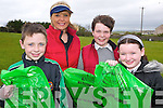 CLEAN UP: Helping to clean up at St. Brendan's NS in Fenit village last Friday afternoon are l:r Cian McGarry,  Phena and Jack O'Connor and Jeena Godley..   Copyright Kerry's Eye 2008