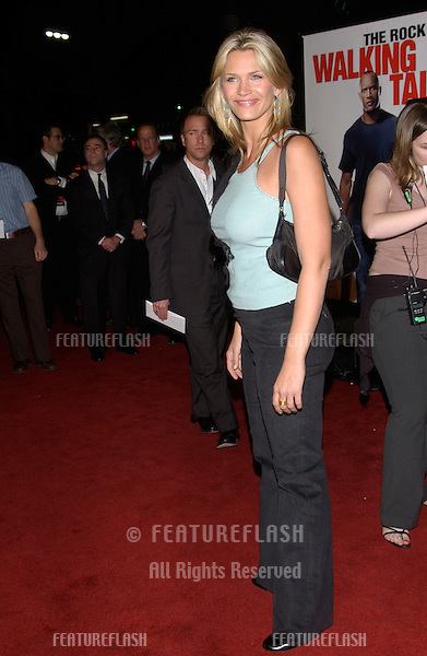 Actress NATASHA HENSTRIDGE at the world premiere, in Hollywood, of Walking Tall..March 29, 2004