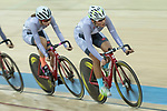 Pang Yao (R) of the IND competes in the Women Elite - Pointe Race 20km Final category during the  Hong Kong Track Cycling National Championships 2017 at the Hong Kong Velodrome on 18 March 2017 in Hong Kong, China. Photo by Chris Wong / Power Sport Images