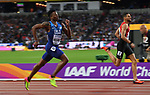 TJ HOLMES (USA) in the mens 400m hurdles semi-final. IAAF world athletics championships. London Olympic stadium. Queen Elizabeth Olympic park. Stratford. London. UK. 07/08/2017. ~ MANDATORY CREDIT Garry Bowden/SIPPA - NO UNAUTHORISED USE - +44 7837 394578