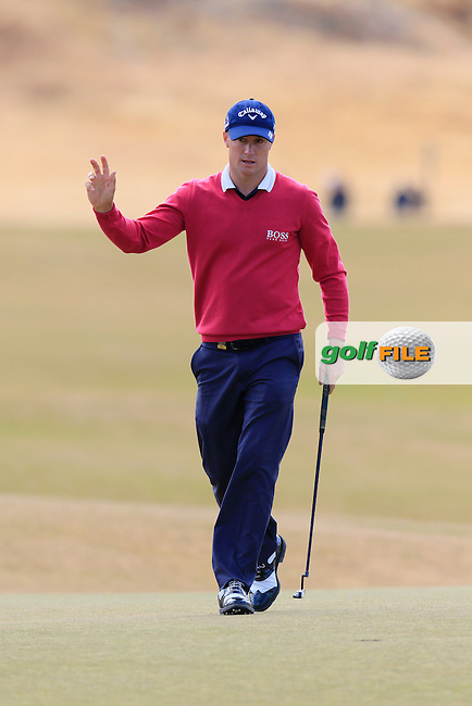 Alex NOREN (SWE) sinks his putt on the 5th green during Friday's Round 2 of the 2015 U.S. Open 115th National Championship held at Chambers Bay, Seattle, Washington, USA. 6/19/2015.<br /> Picture: Golffile | Eoin Clarke<br /> <br /> <br /> <br /> <br /> All photo usage must carry mandatory copyright credit (&copy; Golffile | Eoin Clarke)