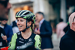 Annemiek van Vleuten (NED) Mitchelton-Scott Women at sign on before the start of La Fl&egrave;che Wallonne Femmes 2019, running 118.5km from Huy to Huy, Belgium. 24th April 2019<br /> Picture: ASO/Thomas Maheux | Cyclefile<br /> All photos usage must carry mandatory copyright credit (&copy; Cyclefile | ASO/Thomas Maheux)