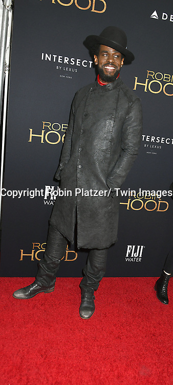 "actor Mustafa Shakir attends the New York Special Screening of ""Robin Hood"" on November 11, 2018 at AMC Lincoln Square in New York, New York, USA.<br /> <br /> photo by Robin Platzer/Twin Images<br />  <br /> phone number 212-935-0770"