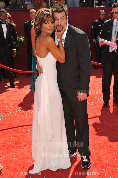 Lisa Rinna & Joey Fatone at the 2008 Primetime Emmy Awards at the Nokia Live Theatre. .September 21, 2008  Los Angeles, CA.Picture: Paul Smith / Featureflash