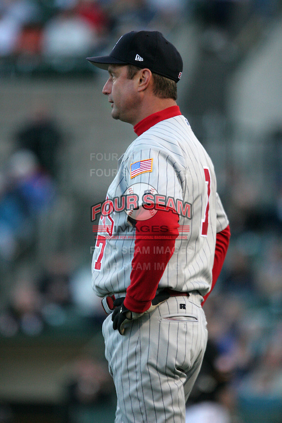 Scranton Wilkes-Barre Red Barons John Russell during an International League game at Frontier Field on May 19, 2006 in Rochester, New York.  (Mike Janes/Four Seam Images)