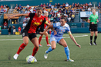 Rochester, NY - Friday July 01, 2016: Abby Erceg, Vanessa DiBernardo during a regular season National Women's Soccer League (NWSL) match between the Western New York Flash and the Chicago Red Stars at Rochester Rhinos Stadium.