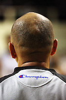 Referee Gavin Whiu during the International basketball match between the NZ Tall Blacks and Australian Boomers at TSB Bank Arena, Wellington, New Zealand on 25 August 2009. Photo: Dave Lintott / lintottphoto.co.nz
