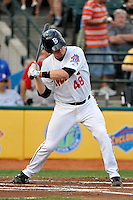 Brooklyn Cyclones catcher Blake Forsythe (48) during game against the Lowell Spinners at MCU Park in Brooklyn, NY July 20, 2010.  Photo By Tomasso DeRosa/ Four Seam Images