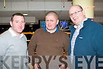 GREYHOUND FUN: Having great fun at the Kingdom Derby Night at the Kingdom Greyhound Stadium on Saturday l-r: T. J. Carey, Ian Maunsell and Chris Quinn all from Abbeydorney.