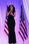 Singer Jennifer Hudson performs during the Inaugural Ball at the Walter E. Washington Convention Center on January 21, 2013 in Washington, DC. President Obama was sworn in for his second term earlier in the day.  .Credit: Alex Wong / Pool via CNP
