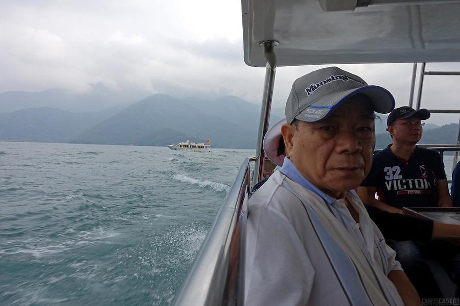 Old man, Sun Moon Lake, Taiwan
