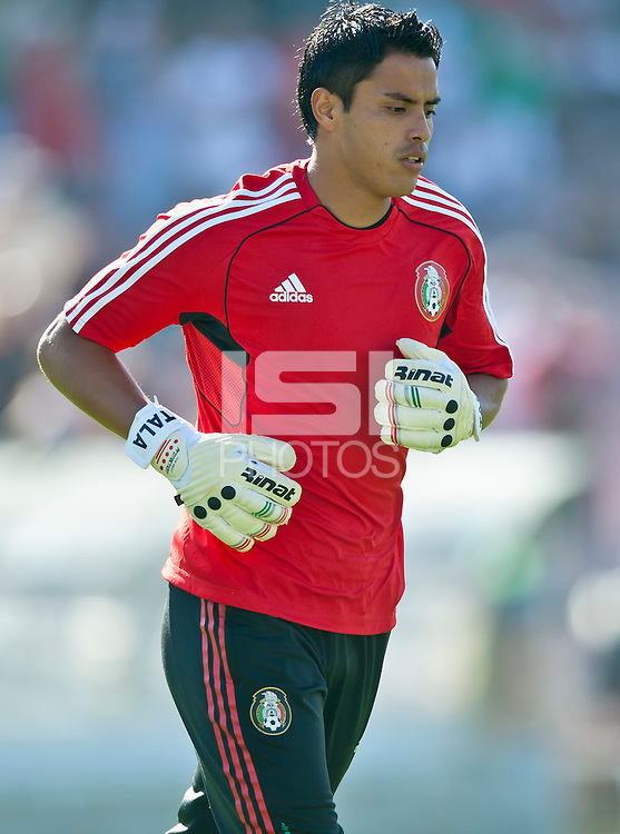 PASADENA, CA – June 25, 2011: Mexico goalie Alfredo Talavera (12) before the Gold Cup Final match between USA and Mexico at the Rose Bowl in Pasadena, California. Final score USA 2 and Mexico 4.