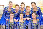 Glenflesk figure dancers Kate Logan, Aine O'Sullivan, Mary O'Sullivan, Kathlyn O'Keeffe, Rose Kelliher, Orla Kelliher, Juliette O'Shea, Aoife Cronin and Claire Cronin who competed in the East Kerry finals of Scór na nÓg held in the Fossa Community Centre on Saturday.
