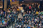 Solna 2014-06-01 Fotboll Landskamp , Sverige - Belgien :  <br /> Publik p&aring; v&auml;g att l&auml;mna l&auml;ktaren innan matchen n&auml;r slut<br /> (Photo: Kenta J&ouml;nsson) Keywords:  Sweden Sverige Friends Arena Belgium Belgien supporter fans publik supporters depp besviken besvikelse sorg ledsen deppig nedst&auml;md uppgiven sad disappointment disappointed dejected
