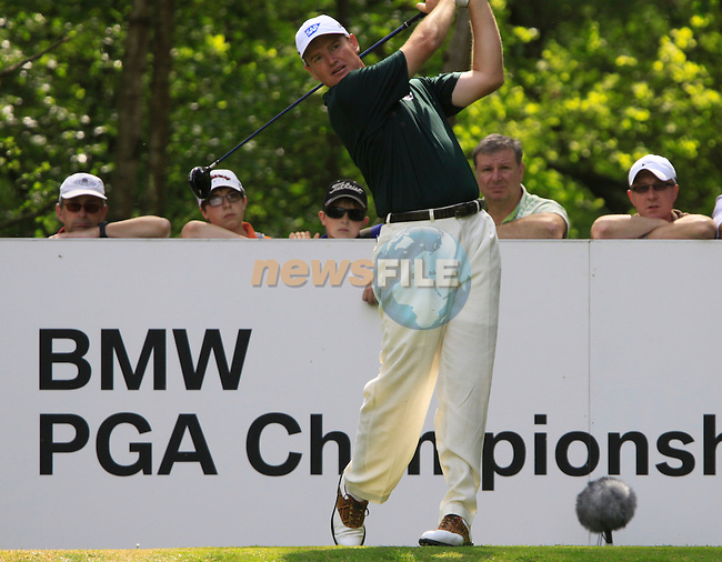 Ernie Els tees off on the 12th tee during Round 2 of the BMW PGA Championship at  Wentworth, Surrey, England...Photo Golffile/Eoin Clarke.(Photo credit should read Eoin Clarke www.golffile.ie)....This Picture has been sent you under the condtions enclosed by:.Newsfile Ltd..The Studio,.Millmount Abbey,.Drogheda,.Co Meath..Ireland..Tel: +353(0)41-9871240.Fax: +353(0)41-9871260.GSM: +353(0)86-2500958.email: pictures@newsfile.ie.www.newsfile.ie.