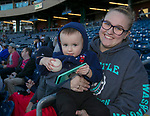 Jenna and two-year-old Jonathon during the Reno Aces vs Nevada Wolf Pack baseball game at Greater Nevada Field in downtown Reno, Nevada on Tuesday, April 2, 2019.