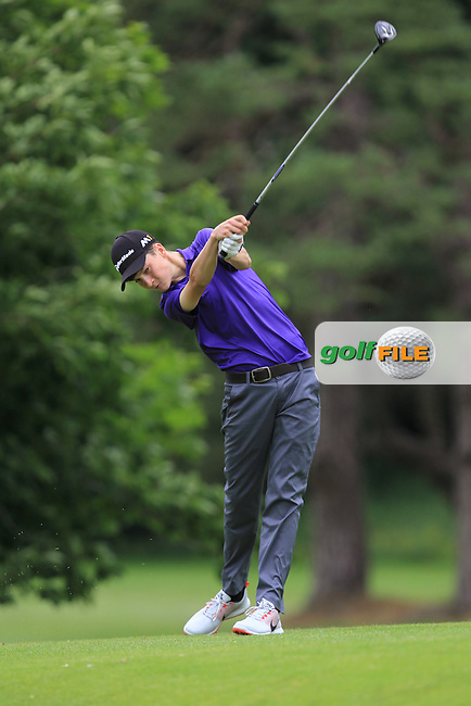 Barry Howlin (The Heritage) on the 16th tee during Round 1 of the 2016 Leinster Boys Amateur Open Championship at Mullingar Golf Club on Tuesday 21st June 2016.<br /> Picture:  Golffile | Thos Caffrey
