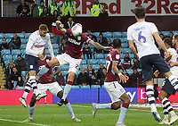 Preston North End's Louis Moult scores his sides third goal <br /> <br /> Photographer Mick Walker/CameraSport<br /> <br /> The EFL Sky Bet Championship - Aston Villa v Preston North End - Tuesday 2nd October 2018 - Villa Park - Birmingham<br /> <br /> World Copyright &copy; 2018 CameraSport. All rights reserved. 43 Linden Ave. Countesthorpe. Leicester. England. LE8 5PG - Tel: +44 (0) 116 277 4147 - admin@camerasport.com - www.camerasport.com