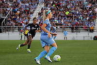 Piscataway, NJ - Saturday Aug. 27, 2016: Julie Johnson, Tasha Kai during a regular season National Women's Soccer League (NWSL) match between Sky Blue FC and the Chicago Red Stars at Yurcak Field.