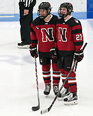 McKenna Brand (NU - 7), Maddie Hartman (NU - 27) -  The Boston College Eagles defeated the Northeastern University Huskies 2-1 in overtime to win the 2017 Hockey East championship on Sunday, March 5, 2017, at Walter Brown Arena in Boston, Massachusetts.