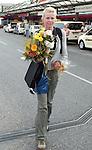 Die deutsche Schwimmerin Britta Steffen beendet ihre Karriere - Archiv aus  07.08.2006<br /> Ankunft der Schwimmerin  <br /> Britta Steffen , Freund Oliver Wenzel<br />  <br /> <br />   <br /> Foto &copy; nph /  Schulz