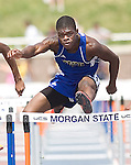 The Gazette Wise's Ernest Cooper runs the 4A 110 meter hurdles placing first overall  with a time of 14.95 seconds. Cooper also placed first in the 300 meter hurdles with a time of 38.87 seconds during the Maryland State Track and Field Championships on Saturday afternoon at Morgan State University in Baltimore.