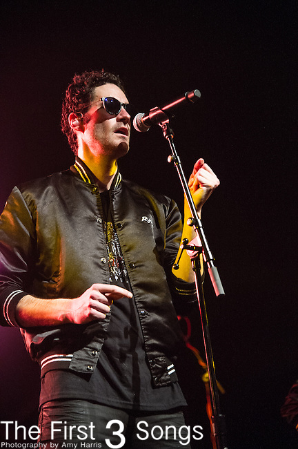 Sebu Simonian of Capital Cities performs at Old National Centre in Indianapolis, Indiana.