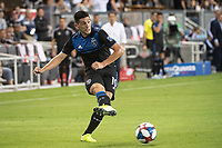 SAN JOSE, CA - AUGUST 25: Cristian Espinoza #10 of the San Jose Earthquakes during a game between Vancouver Whitecaps FC and San Jose Earthquakes at Avaya Stadium on August 24, 2019 in San Jose, California.