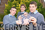 AWARD: Presented with the 2009 Road Safety Authority 'Leading Lights' Award in Famleigh House on Wednesday last from l-r were: Steven Knightly, Aki O'Rourke and Niall Drumm all students from CBS The Green Tralee.
