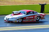 Sept. 25, 2011; Ennis, TX, USA: NHRA pro stock driver Chris McGaha during the Fall Nationals at the Texas Motorplex. Mandatory Credit: Mark J. Rebilas-