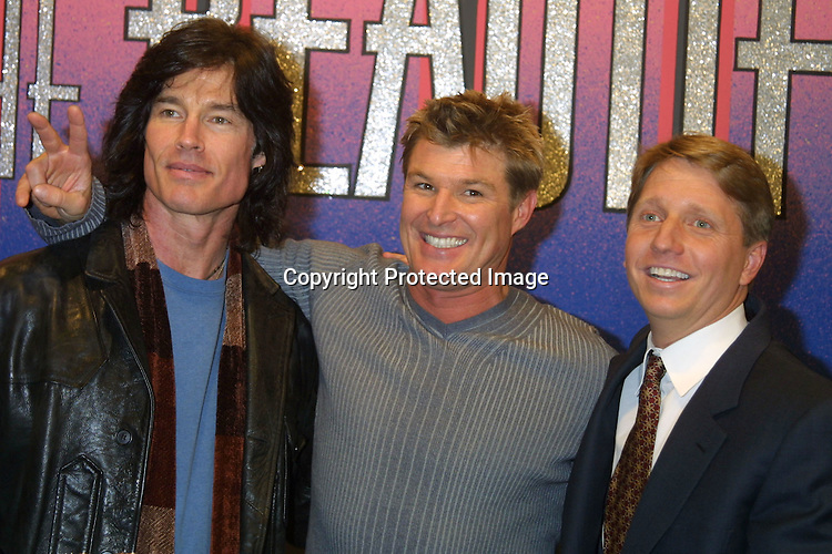 ©2003 KATHY HUTCHINS /HUTCHINS PHOTO.BOLD AND THE BEAUTIFUL.4000 SHOW CELEBRATION.CBS TELEVISION CITY.LOS ANGELES, CA.FEBRUARY 6, 2003. RONN MOSS , WINSOR  HARMON  , AND BRAD BELL