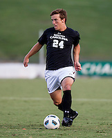 The number 5 ranked Charlotte 49ers play the University of South Carolina Gamecocks at Transamerica field in Charlotte.  Charlotte won 3-2 in the second overtime.  Mike Mangotic (24)