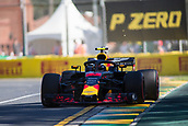 23rd March 2018, Melbourne Grand Prix Circuit, Melbourne, Australia; Melbourne Formula One Grand Prix, Friday free practice; The number 33 Aston Martin Red Bull driven by Max Verstappen