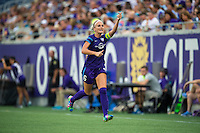 Orlando, FL - Sunday July 10, 2016: Kaylyn Kyle during a regular season National Women's Soccer League (NWSL) match between the Orlando Pride and the Boston Breakers at Camping World Stadium.
