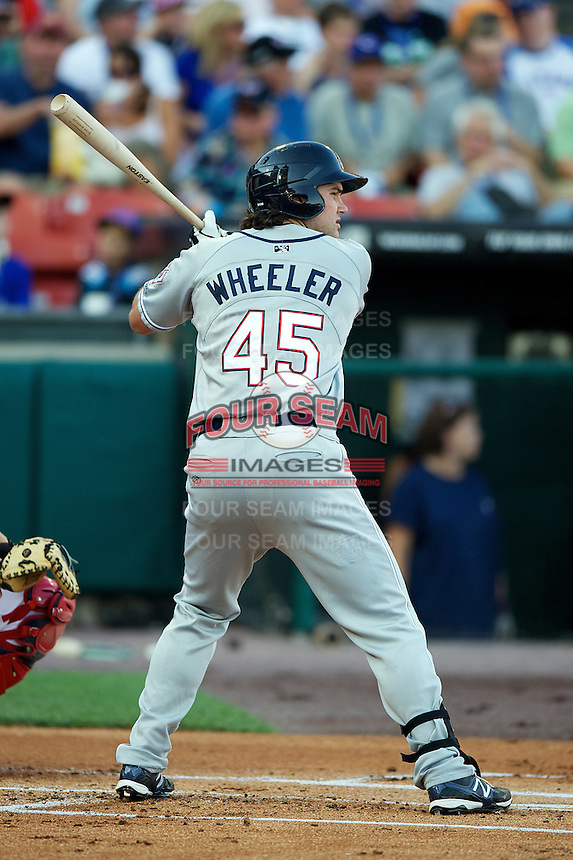 Reno Aces infielder Ryan Wheeler #45 during the Triple-A All-Star game featuring the Pacific Coast League and International League top players at Coca-Cola Field on July 11, 2012 in Buffalo, New York.  PCL defeated the IL 3-0.  (Mike Janes/Four Seam Images)