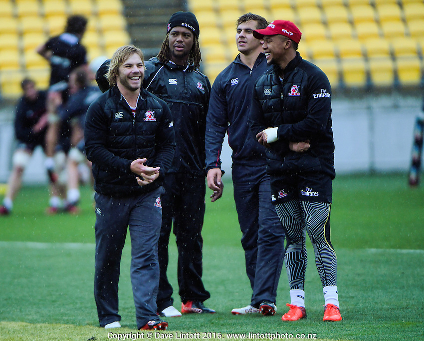Lions Super Rugby final captain's run at Westpac Stadium, Wellington, New Zealand on Friday, 5 August 2016. Photo: Dave Lintott / lintottphoto.co.nz