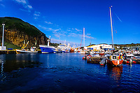 Vestmannaeyjar Islands off the south coast of Iceland. Heimaey is the main island. The harbour.