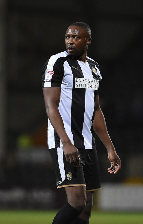 Notts County's Shola Ameobi<br /> <br /> Photographer Jon Hobley/CameraSport<br /> <br /> The EFL Sky Bet League Two - Notts County v Crawley Town - Tuesday 23rd January 2018 - Meadow Lane - Nottingham<br /> <br /> World Copyright &copy; 2018 CameraSport. All rights reserved. 43 Linden Ave. Countesthorpe. Leicester. England. LE8 5PG - Tel: +44 (0) 116 277 4147 - admin@camerasport.com - www.camerasport.com