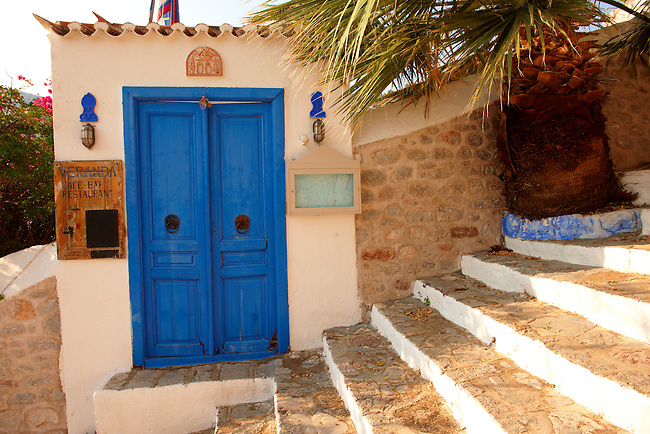 Veranda Restaurant entrance, Hydra,  Greek Saronic Islands