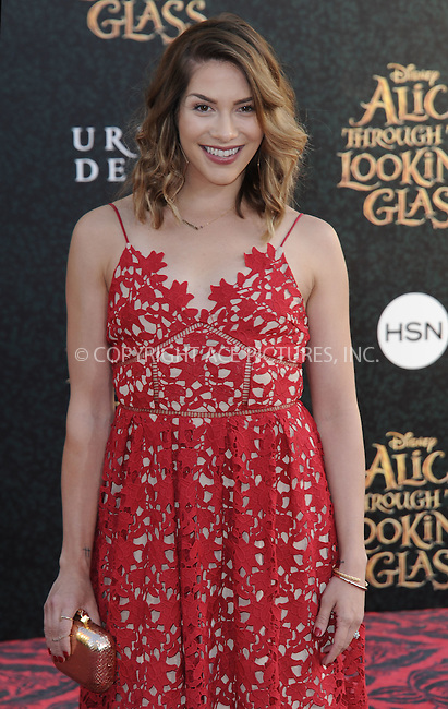 WWW.ACEPIXS.COM<br /> <br /> May 23 2016, LA<br /> <br /> Allison Holker arriving at the premiere of Disney's 'Alice Through The Looking Glass' at the El Capitan Theatre on May 23, 2016 in Hollywood, California.<br /> <br /> <br /> By Line: Peter West/ACE Pictures<br /> <br /> <br /> ACE Pictures, Inc.<br /> tel: 646 769 0430<br /> Email: info@acepixs.com<br /> www.acepixs.com