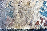 Greek Art:  Funeral Dance, Italian tomb painting.  National Museum, Naples.  5th c. B.C.