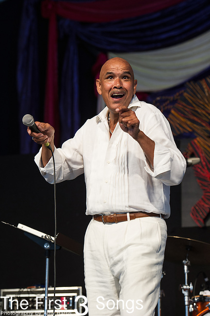 Phillip Manuel performs during the New Orleans Jazz & Heritage Festival in New Orleans, LA.