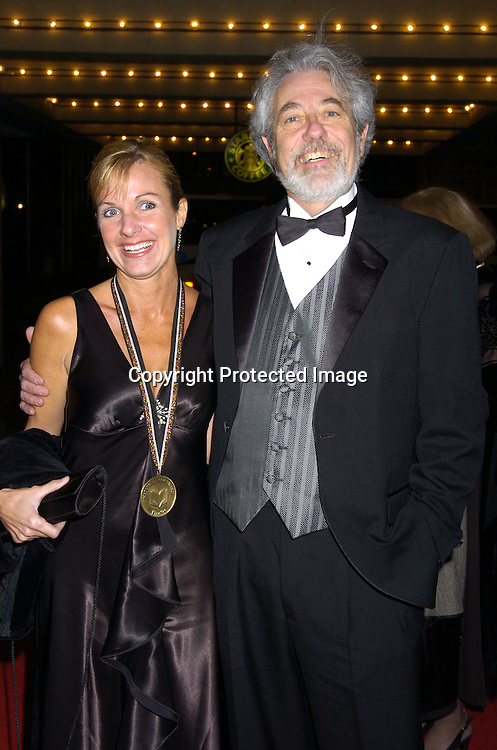 Deb Caletti and husband Elliott Wolf ..at the National Book Awards on November 17, 2004 at The Marriott Marquis. Photo by Robin Platzer, Twin Images