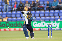 Dimuth Karunaratne (Sri Lanka) pushes into the off side for a single during Afghanistan vs Sri Lanka, ICC World Cup Cricket at Sophia Gardens Cardiff on 4th June 2019