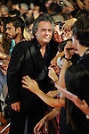 Spanish actor Jose Coronado poses for the photographers on the Orange Carpet  during the closing celebration of 6th 'FesTVal' Television Festival 2014  in Vitoria, northern Spain. September 06, 2014. (ALTERPHOTOS/Sirocco)