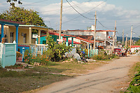 Cuba, Pinar del Rio Region, Viñales (Vinales) Residential Street.