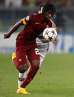 Calcio, Champions League, Gruppo E: Roma vs Bayern Monaco. Roma, stadio Olimpico, 21 ottobre 2014.<br /> Roma's Gervinho in action during the Group E Champions League football match between AS Roma and Bayern at Rome's Olympic stadium, 21 October 2014.<br /> UPDATE IMAGES PRESS/Isabella Bonotto