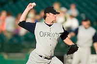 Charlotte starting pitcher Gavin Floyd (32) in action versus Louisville at Louisville Slugger Field in Louisville, KY, Tuesday, June 5, 2007.