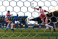 Omar Bogle of Portsmouth centre scores to make the score 1-1  during Portsmouth vs Doncaster Rovers, Sky Bet EFL League 1 Football at Fratton Park on 2nd February 2019